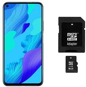 Huawei Nova 5T Dual SIM 6/128 + Karta pamięci MicroSDHC 16 GB. Smartfon z Amazon (Crush Blue)