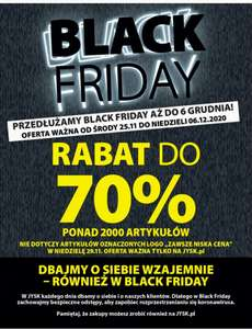 Black Friday JYSK do 70% taniej np.materac sprężynowy Gold S25 80x200cm, gazetka