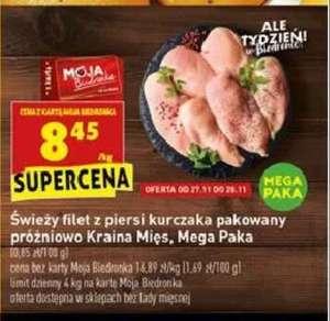 Filet z piersi kurczaka pakowany próżniowo kg @Biedronka