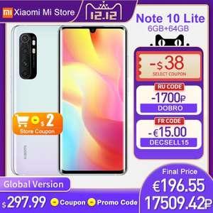 Xiaomi Mi Note 10 Lite 6/64 na 7.12