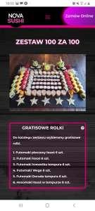 Nova sushi 100 za 100.