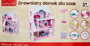 Rossmann drewniany domek dla lalek