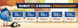RABAT 5% na VOUCHERY PAYBACK Kart podarunkowych ALLEGRO