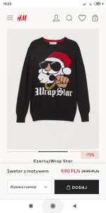 Sweter świąteczny chłopięcy H&M rozmiary 134-164