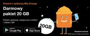Orange - darmowe 20GB za zalogowanie się w aplikacji