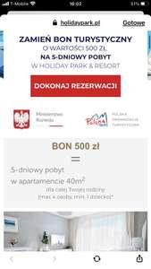 Podwojenie bonu turystycznego w Holiday Park & Resort