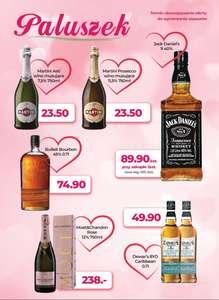 Walentynkowa oferta zbiorcza dla niego whisky Bulleit czy Dewars 8Y dla niej Martini