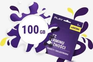 100GB dla nowych prepaid znów dostępne (PLAY)