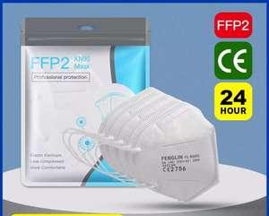 Maseczki FFP2 100 szt. 1,49 zł /szt 3 dniowa bezpłatna dostawa (39,75$)