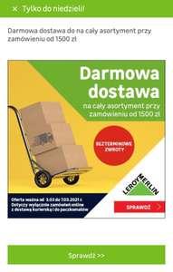 Darmowa dostawa w Leroy Merlin