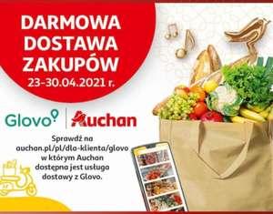 Glovo, darmowa dostawa Auchan.