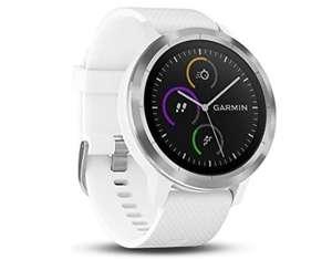 Smartwatch Garmin Vivoactive 3 srebrny z białym paskiem Amazon.pl refub