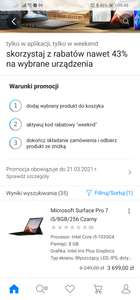 Microsoft Surface Pro 7 i5/8GB/256 za 3699