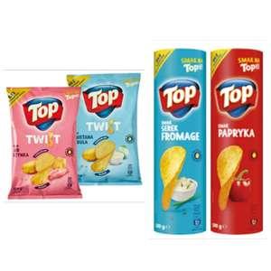Chipsy Top Chips Twist 150 g i Chipsy Top w tubce 100 g przy zakupie 2 szt. - Biedronka