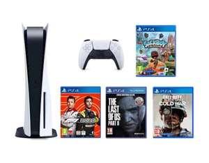 Konsola SONY PlayStation 5 + Sackboy: A Big Adventure + The Last Of Us Part II + Call of Duty: Black Ops Cold War + F1 2020 Edycja Standard