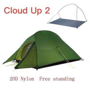 Lekki namiot dwuosobowy Naturehike Cloud Up 2, silnylon 20D, dostawa z Polski