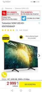 Telewizor SONY LED KD-65X7056BAEP