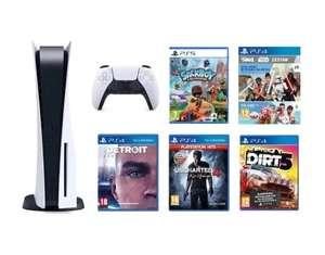PS 5 + Sackboy: A Big Adventure + Detroit+ Uncharted 4: Kres Złodzieja + DiRT 5 + The Sims 4 z dodat. Star Wars Wyprawa na Batuu