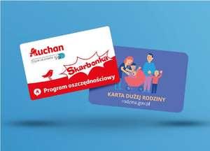 Auchan Karta Skarbonka + Karta Dużej rodziny = 5% zniżki na każde zakupy do końca roku