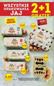Wszystkie jaja 2+1 gratis z kartą MB - Biedronka