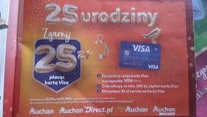 Zgarnij 25 zł na kartę Visa za zakupy za 200 zł w Auchan