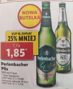 Perlenbacher Pils w nowej butelce, cena przy zakupie 18szt.