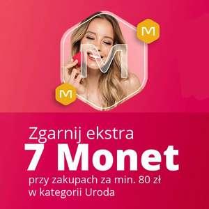 +7 Monet przy zakupach za minimum 80 zł w kategorii Uroda @Allegro