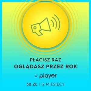 player.pl pakiet za 30 zł na 12 miesięcy !!!