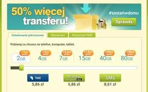 50% więcej transferu po doładowaniu na chomikuj.pl