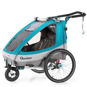 Qeridoo® Przyczepka rowerowa Sportrex2 Petrol @pinkorblue