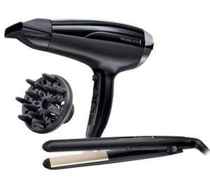 Zestaw: suszarka i prostownica Remington Pro-Air Shine 2200 D5215 + Ceramic Slim 220 S1510 @Euro