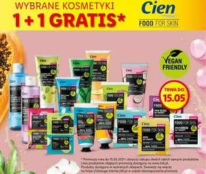 Lidl: Cien Food for Skin 1+1 gratis/wybrane kosmetyki