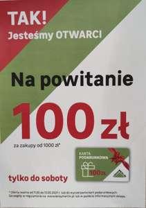 Karta podarunkowa 100 zł za wydane 1000 zł