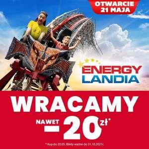 Energyladnia -20 zł na bilet   Otwarcie 21.05 - Bilet ważny do 31.10