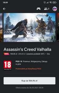 Stadia Assassin's Creed Valhalla oraz pozostałe części AC
