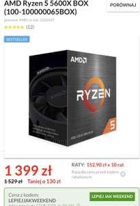 Procesor AMD Ryzen 5 5600X BOX 3,7-4,6GHz 6/12 65W