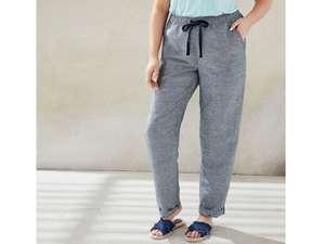 ESMARA® Spodnie damskie XXL z lnu 53% i wiskozy 47% @LIDL - r. 48 - 56