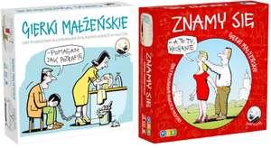 Znamy się za 63,73 lub Gierki małżeńskie za 82,49 - MDR, planszowa gra towarzyska ilustrowana rysunkami Andrzeja Mleczki