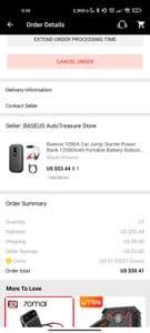 Baseus 12000mah starter akumulatora power bank US $51.53