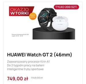 Huawei watch GT 2 + słuchawki Freebuds 4i taniej. Możliwe raty 36x0% (cena z newsletterem)