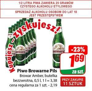 Piwo Browarne Pils 0,5l (Browar Amber - cena przy zakupie 11szt.) - DINO