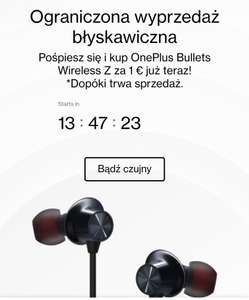 Słuchawki OnePlus Bullets Wireless Z start: godz. 12.00