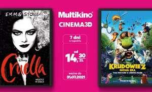 Bilety do Multikina lub Cinema 3D, na seanse 2D od 14,30zł @ Groupon