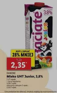 Lidl mleko UHT Łaciate Junior 3,8%