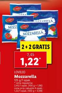 Ser Mozzarella Lovilio 125 g cena przy zakupie 4 szt.   2+2 gratis   LIDL