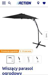 Wiszący parasol ogrodowy średnica 3 m. Sklep Action