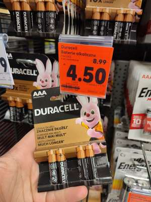Kaufland - baterie alkaliczne Duracell, GP i Energizer