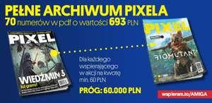 """Dostęp do archiwum magazynu Pixel w PDF (numery 1 - 70) + książka """"Historia Amigi Piksel po Pikselu"""""""