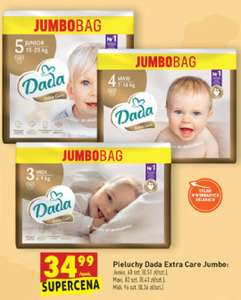 Pieluchy Dada Extra Care Jumbo Bag r. 3, 4 i 5