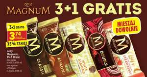 lody Magnum na patyczku, 3+1gratis, 7-13/06, Biedronka
